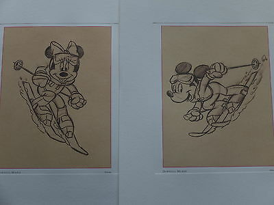 disney minnie mouse ultimate skiing gift art print sketch perfect for lady skier
