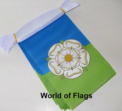 EAST RIDING of YORKSHIRE FLAG BUNTING 9m 30 Fabric Party Flags English County