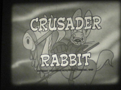 16mm Crusader Rabbit Sound 1949 Cartoon // 200ft B/W Leprechauns Story
