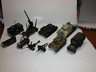 10 Vintage 70s/80's Professionally Assembled Military,Tank,Armor 1/72 Model Kits