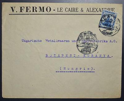 EGYPT to HUNGARY 1920 Merchant Cover CAIRO to BUDAPEST , Egitto, Africa, Ägypten