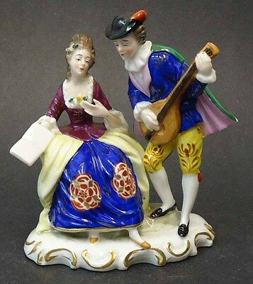 Vintage Capodimonte Porcelain Figure Group Of A Courting Couple