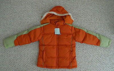 nwt  girls winter jacket down hood ski  cold weather water resist $99 size 12