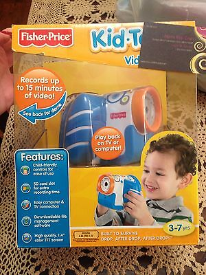 Fisher Price Kid Tough Video Camera Video Recorder Blue Nib