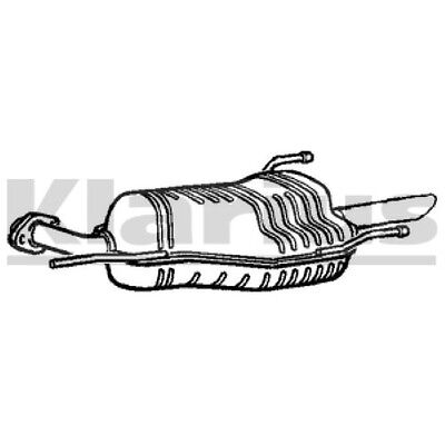 ZAFIRA EXHAUST BACK BOX REAR SILENCER  with FREE chrome trim