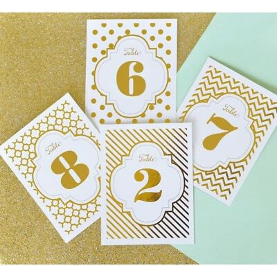 New 1-12 x Gold or Silver Foil Table Numbers Wedding Sign Bling Decoration