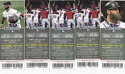 2014 BOSTON RED SOX PICK YOUR GAME TICKET STUB 2ND HALF ORTIZ CASTILLO BETTS