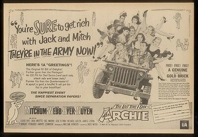 1961 The Last Time I Saw Archie movie trade promo ad