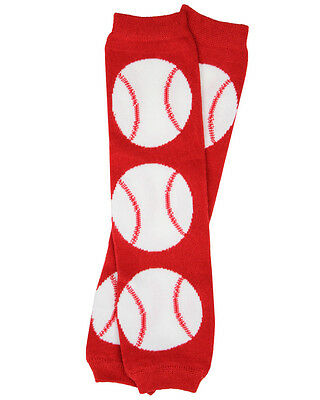Boys Baseball Leg Warmers Newborn Infant and Baby Toddler Sizes Red Sport