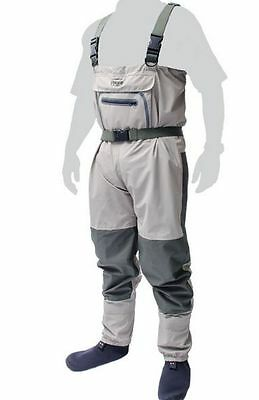 New Leeda Volare Stocking Foot Breathable Chest Waders All Sizes Fishing
