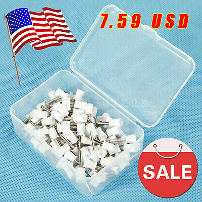 100pcs USA Dental Latch type Brush Prophy Polishing Cups Polisher Rubber Green