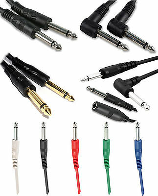 6.35mm Mono Jack to Jack Plug 6.35mm Electric Guitar Keyboard Cable Lead 1/4""