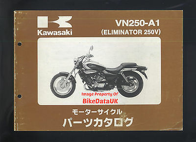 Kawasaki VN 250 A Eliminator (1998) Illustrated Parts List/Catalogue JAP 250V