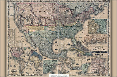 24x36 Poster - Railroad Military Map America 1862; United States (reproduction)