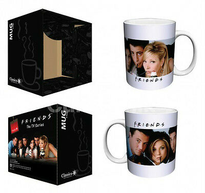 "FRIENDS ""MILKSHAKES"" 12 oz COFFEE MUG Ceramic Friends TV Show NEW in BOX"