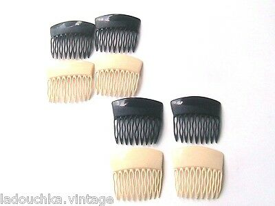 FRENCH 1950s/1960s HAIR COMBS ORNAMENTS - LOT OF 8 - MADE IN FRANCE - DEADSTOCK