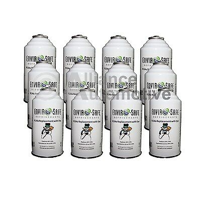 Enviro-Safe AC Refrigerant R134a Replacement + Dye 12 Cans (1 Case)