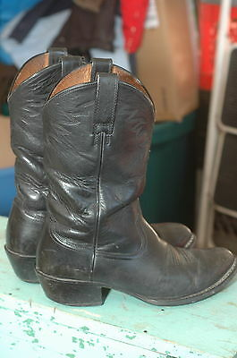 ariat Cowboy Boots western 9 ee rubber sole black ranch work classic gunfighter
