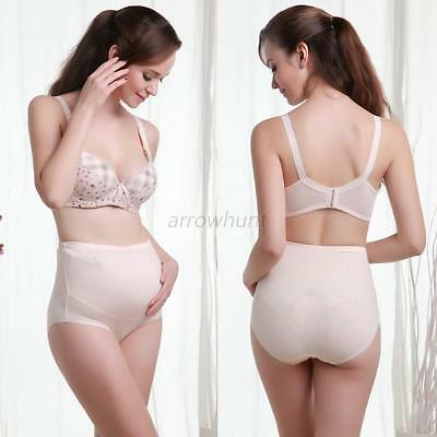 Cotton Maternity Pregnancy Adjustable High Waist Soft Panties Lingerie Brief New