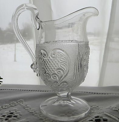 EAPG Princess Feather Creamer  Bakewell Pears 1870's