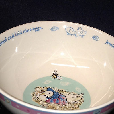 WEDGWOOD 2003 JEMIMA PUDDLE DUCK 2 CHILDS OATMEAL/CEREAL BOWLS BEATRIX POTTER