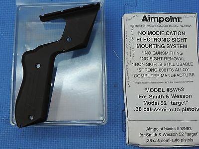 Aimpoint Smith & Wesson Model 52 Target Grip Scope Mount No Modification NOS!