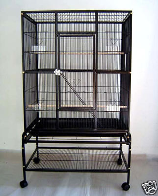New Bird Parrot Cage 32Lx20Wx53H Conure Cockatiel Finch Parakeet Sugar Glider