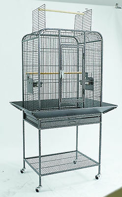 "New Bird Parrot Cage 24""x18""x54"" w/Seed Guards Open Top Cockatiel Conure Finch"