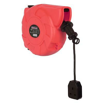 Sealey Cable Reel System Retractable 10mtr 1 x 230V Single Socket Outlet- CRM101