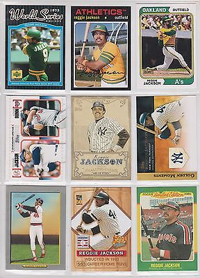 9 card Reggie Jackson lot with inserts,all different