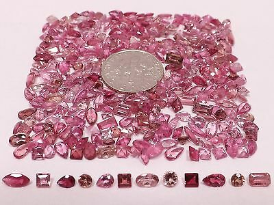 1ct Natural Mixed Pink Tourmaline from scrap gold silver & vintage jewelry