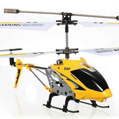 SYMA S107G 3.5 Channel 3CH Mini Metal Remote Control RC Helicopter GYRO Genuine!