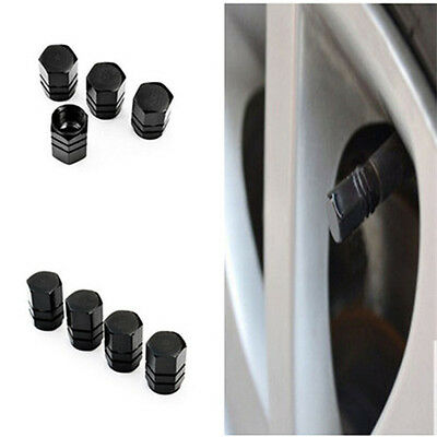 4 PCS Black Alloy Tire Wheel Rims Stem Air Valve Caps Tire Cover Car Truck Bike