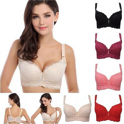 Sexy Super Boost Push Up Embroidery Lace Side Support Plunge Underwired Bra A40