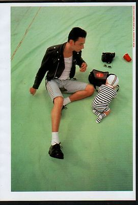 1991 Depeche Mode Dave Gahan & Baby JAPAN mag photo pinup / mini poster d01r