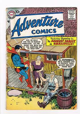 Adventure Comics # 244 Poorest Family in Smallville ! grade 3.5 scarce book !!
