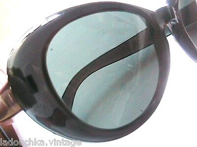 PIN-UP 1950s WOMAN CAT EYES SUNGLASSES- DARK GREEN -MADE IN ITALY -NEW/OLD STOCK