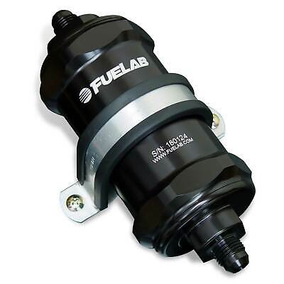 Fuelab In Line Compact Fuel Filter -6 JIC / 6AN 10 Micron Black - 818xx Series