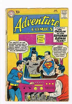 Adventure Comics # 275 Origin Superman-Batman Team ! grade 4.0 scarce hot !!