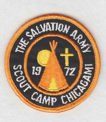 Salvation Army Patch:  Scout Camp Chicagami, 1972