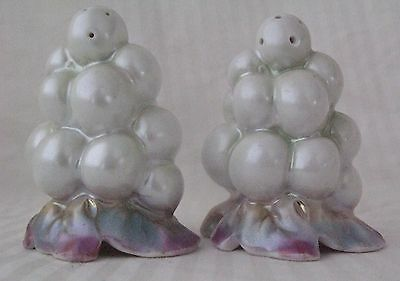 Royal Bayreuth China White Pearlized Grapes Salt & Pepper Shakers Set