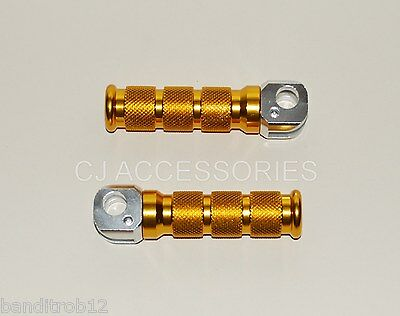Gold Alloy Footpegs Footrests Foot Peg GSF600 GSF1200 Suzuki Bandit GSXR1100