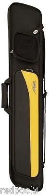 Predator Sport 3x4 Yellow Soft Pool Cue Case - CSP3x4Y - Embossed Soft Cue Case