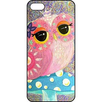 ZZ019 The Cute Pink Owl Pattern Design Hard Case Back Cover Skin For iPhone 5 5S
