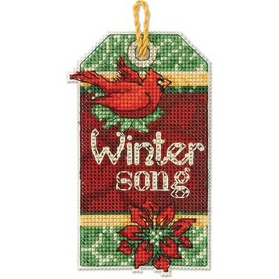 Counted Cross Stitch Kit WINTER SONG ORNAMENT
