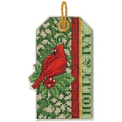 Counted Cross Stitch Kit HOLLY & IVY ORNAMENT