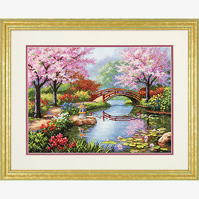 Counted Cross Stitch Kit  JAPANESE GARDEN  Dimensions Gold Collection