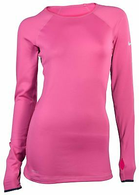 Nike Women's Dri-Fit Pro Hyperwarm Crew Training Top-Fuscia