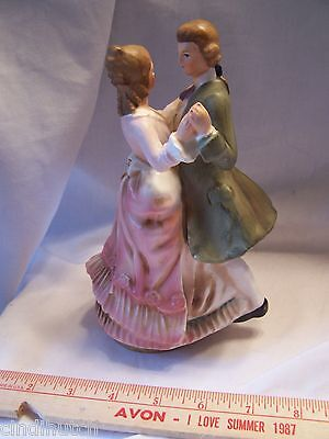 Vintage Victorian Couple Dancing  Musical Music Box-Japan-Tundra Numbered