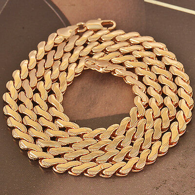 MENS Snake CHAIN NECKLACE 24 INCHES Handsome 9K ROSE GOLD FILLED F4731